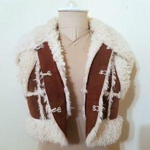 Faux Fur Boho Cropped Vest
